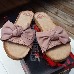 NIB womens Fergalicious maybe slide sandal size 7